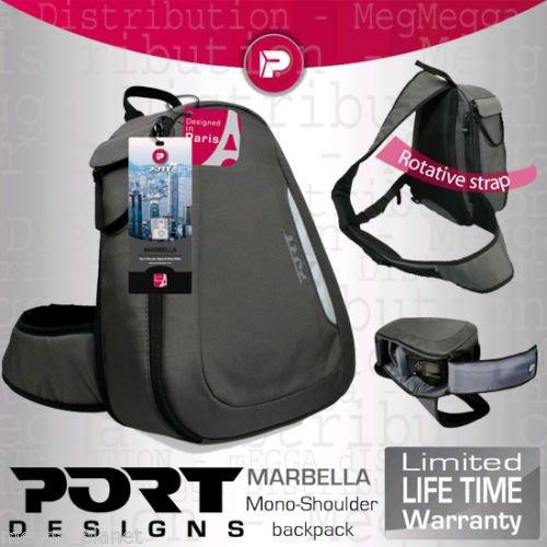 Port Designs Marbella Lichtgewicht SLR/DSLR Camera + Lens Kit Gemakkelijk toegankelijke Swivel Compact Rugzak (Voor gebruik met alle merken waaronder: Canon, Panasonic, Nikon, Fujifilm, Sony, GE, Samsung & Olympus)
