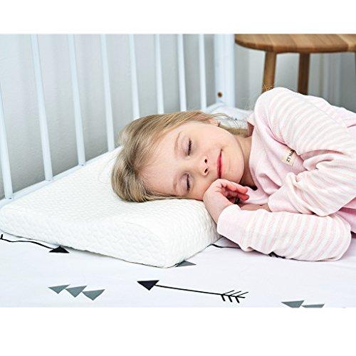 Gesundheit Kinder Kissen für Bett Schlafen Hypoallergenic Memory Schaum kinderkissen Neck-Protector für Kinder(3-10 Jahre)