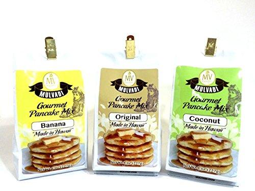MULVADIのフルーツパンケーキ 人気の3味<オリジナル/バナナフレーバー/ココナッツ>