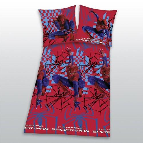 Herding 446651050 Bettwäsche The Amazing Spiderman, 80 x 80 + 135 x 200 cm, Linon