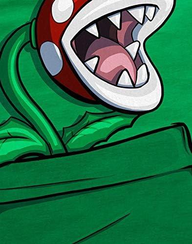 style3 Planta Piraña Bolsillo Camiseta para Hombre T-Shirt Pocket Mario Switch SNES