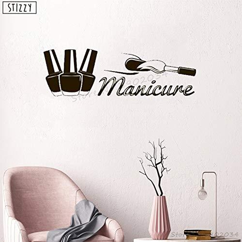 Tianpengyuanshuai wandtattoo manicure woonkamer manicure wandtattoo venster design logo mode schoonheid spa decoratie