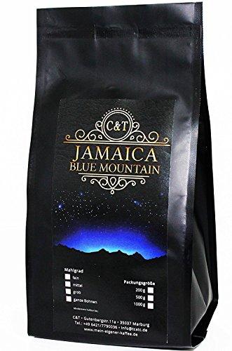 C&T 100% Jamaica Blue Mountain AA Wallenford Estate 500 g Ganze Bohnen Sorteinrein Singe Origin Rarität aus Jamaika