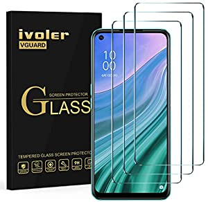 ivoler Pack of 3 Tempered Glass Screen Protectors for Oppo A54 5G, 9H Hardness Tempered Glass Film, Anti-Scratch Film, Anti-Bubble Screen Protector, Crystal Clear Tempered Glass