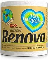 Renova Rollos de Cocina Recycled Gigarollo Ecológico, 1 Gigarrollo Equivalente a 10 Rollos de Cocina, Papel Reciclado &...