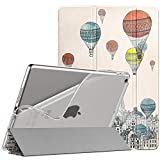 iPad 8 ケース 2020 iPad 10.2 ケース 2019 TiMOVO iPad 2020/2019 ケース 第8世代/第7世代 NEWモデル 10.2インチ 半透明 TPU PUレーザー 開閉式 三つ折り スタンド マグネット オートスリープ機能 耐衝撃 軽量 落下防止 精密設計 着脱簡単 保護カバー City Balloon