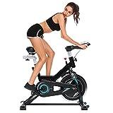 Profun Bicicleta Estática de Spinning Profesional, Ajustable Resistencia, Monitor, Bicicleta...