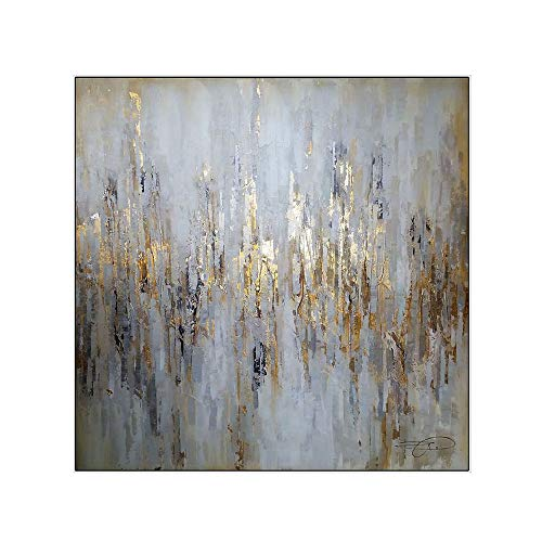 Pintura Al óLeo Pintada A Mano Cuadros Abstractos Modernos Sobre Lienzo Arte Sala De Estar Dormitorio DecoracióN Para El Hogar,canvas,75×75cm