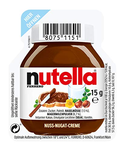 Ferrero Nutella 120 Stück, 1er Pack (1 x 1.8 kg)