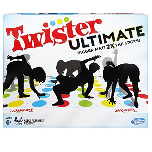 Twister Ultimate: Bigger Mat, More Colored Spots, Family, Kids Party Game Age 6+; Compatible with Alexa (Amazon Exclusive)