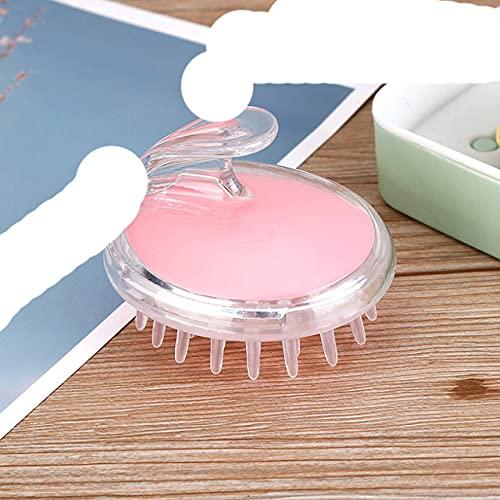 Cabeza manual Cuidado del cuero cabelludo e Champú Cepillo Peine adelgazante Limpieza Ducha Baño Exfoliar Eliminar la caspa Promover el crecimiento del cabello-1pc color w3