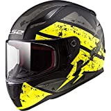 LS2 Helmets Rapid Deadbolt Hi-Viz Graphic Unisex-Adult Full-Face-Helmet-Style Motorcycle Helmet (Black, X-Large)