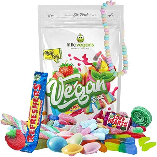 Vegan Sweets Pick and Mix - Mega 800g Bulk Bag of Classic Old Fashioned  British Retro Sweets Contains Approved Halal Sweets Diary Free and Gelatine  Free Sweets : Amazon.co.uk: Grocery