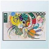 Curva dominante de Wassily Kandinsky Decoración Pinturas Decoración para el hogar sobre lienzo Arte de la pared Impresión de la lona Cartel Pintura de la lona-60x90cm Sin marco
