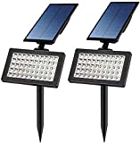 FEE-ZC Outdoor Solar Light, 2 in 1 Waterproof 50 LED Solar Landscape Spotlight, Front Door, Terrace, Deck, Courtyard, Garden, Driveway, Easy to Install Safety Protection Light, 2 Pieces
