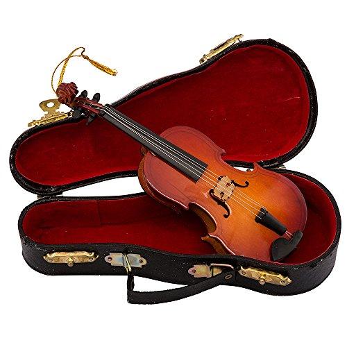 "Kurt Adler 5.5"" Wood Violin Ornament"