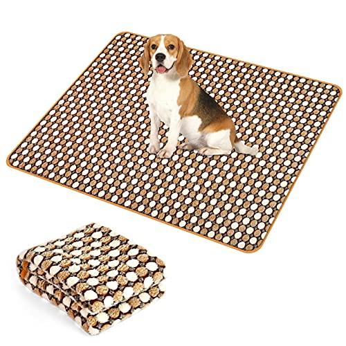 Coperta per cani e gatti,Gatto Lavabile Soffice Durevole,copertina per cuccioli di cane,Utilizzato per cani, gatti, conigli e altri animali domestici.(Marrone, 76 x 53 cm)