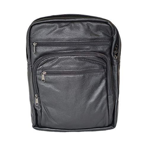 Koffer24 Rucksack 3 Frontfächer Leder 37,5 x 28 x 10,5 cm (H/B/T) Unisex Rucksäcke (1212)