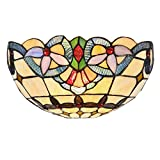 Chloe CH33313VI12-WS1 Cooper Tiffany-Style Wall Sconce with 12' Wide