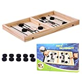 Bouncing Chess Hockey Game, 2 Players Table Desktop Battle Toy Funny Ice Hockey Game Gift, Improve...
