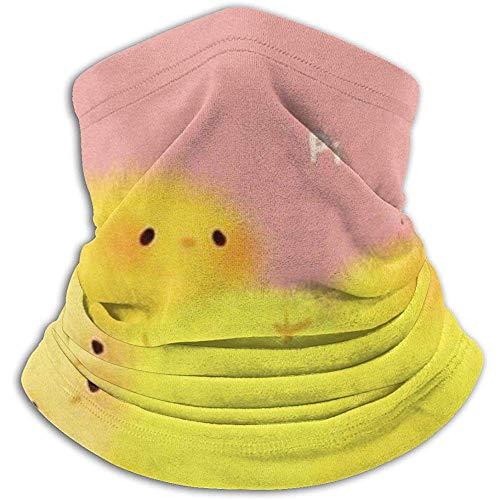 N/A Scaldacollo neonato in pile pulcino - Versatilità reversibile per collo Scalda orecchie e maschera per uomo e donna