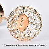 Queta Kerzenständer Kristall Kerzenhalter Vintage 2er Set für Stumpenkerzen, Wohnzimmer Kristall Deko, Tischdeko Hochzeit Weihnachten Geburtstag 32cm&37cm Höhe (Gold) - 4