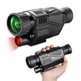 Night Vision Monocular Goggles Scope, 8X40 Night Vision Optics Scope HD Digital Infrared Camera with Photos and Video Playback for Hunting and Wildlife Observation