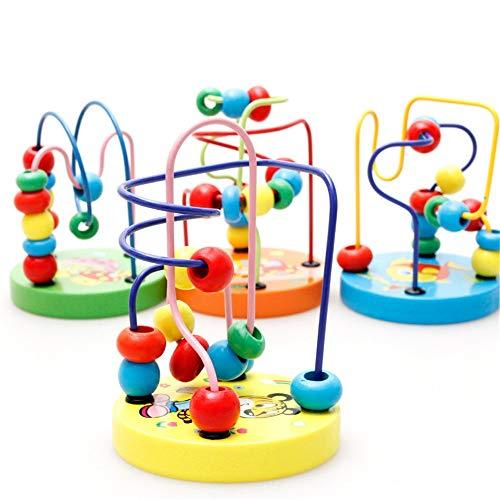 La montaña rusa de madera del grano de laberinto Actividad de madera Cubo Marco del grano de la montaña rusa Laberinto de juguetes educativos juguete de regalo juego de colores Actividad Juego de apre