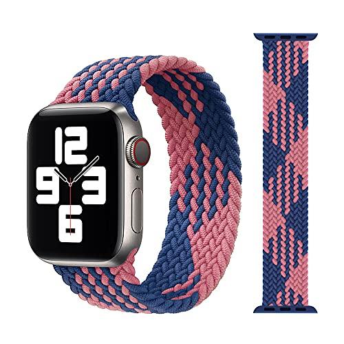 Correas De Reloj De Nylon Banda de Reloj de Tela de Tela de Nylon Trenzada 44mm 40 mm 38mm 42mm Pulsera elástica Correa Reloj (Band Color : Pink Blue)