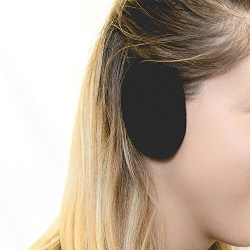Earbags Standard Ohrenwärmer Ohrenschützer Mütze Stirnband Warme Ohren Original Fleece, earbags fleece, Farbe schwarz, Größe L