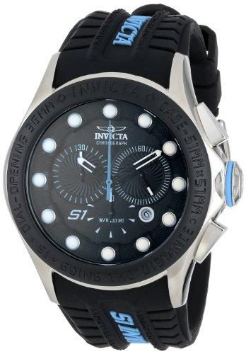 Invicta Men's INVICTA-10841 S1 Rally Chronograph Black Dial Black Silicone Watch