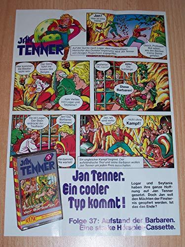 Jan Tenner Fanartikel MC Flyer Beilage Werbeflyer Werbung für Folge 23 + 37 [Musikkassette]