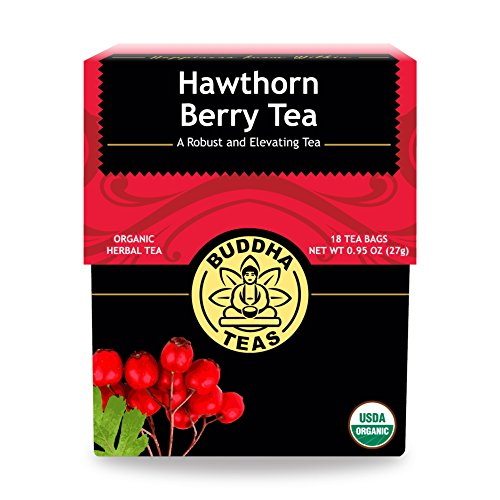 Organic Hawthorn Berry Tea  18 Bleach-Free Tea Bags  Caffeine-Free Tea with an Herbal Flavor and Digestion Aiding Properties, Kosher, GMO-Free