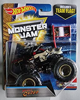 HOT WHEELS MONSTER JAM 1:64 SCALE EPIC ADDITIONS 4/10, PIRATE'S CURSE INCLUDES TEAM FLAG 25TH ANNIVERSARY