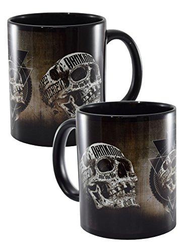 Tasse mit Totenkopf-Motiv, Schwarz