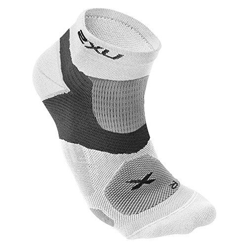 2XU Herren Long Range VECTR Socken, Herren, weiß/weiß, Medium