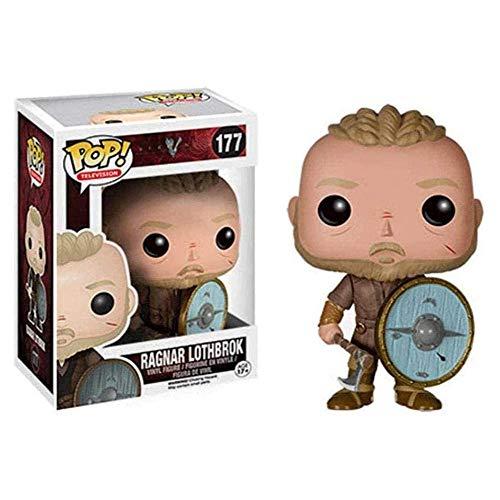 A-Generic Figura de Anime Vikingos de 10 - Figura Coleccionable de Vinilo Ragnar Lothbrok de la Serie de televisión Pop, Figuras de Personajes de Anime de PVC