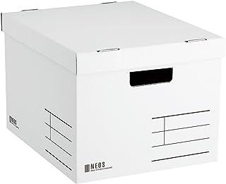 コクヨ 収納ボックス NEOS Lサイズ フタ付き ホワイト A4-NELB-W