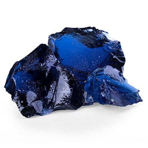 Glas Blue GS, 50-120er Korn, Glas Gabionensteine von GSH - 20 kg/Sack