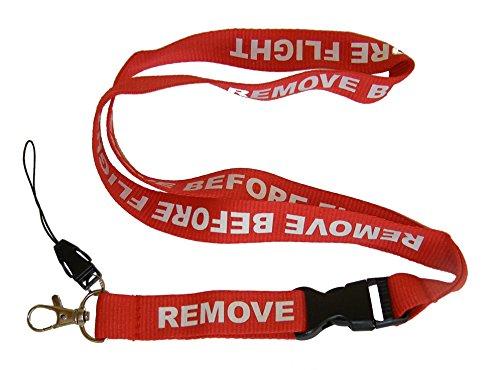 5 soportes para tarjetas de identificación Remove Before Flight