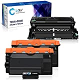 LxTek Compatible Toner Cartridge & Drum Unit Replacements for Brother TN850 TN820 TN-850 DR820 to use with HL-L6200DW MFC-L5900DW HL-L6300DW MFC-L6700DW (2 Toner Cartridges, 1 Drum Unit, 3 Pack)