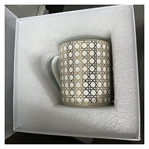 TYUXINSD Lujo Hueso China China Ratan de Oro Taza de café Té de cerámica Té Negro Taza de té Plato Animal Tablewar Conjunto Boda y Regalos para el hogar (Color: 02) (Color : 2)