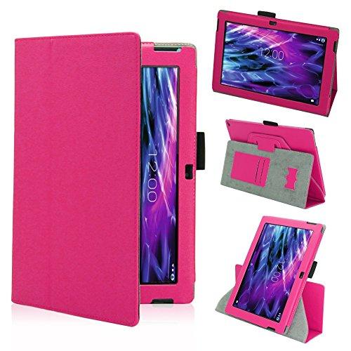 NAmobile Tasche Hülle für Medion Lifetab S10366 S10365 S10346 Schutzhülle Tablet Cover Case Bag, Farben:Pink
