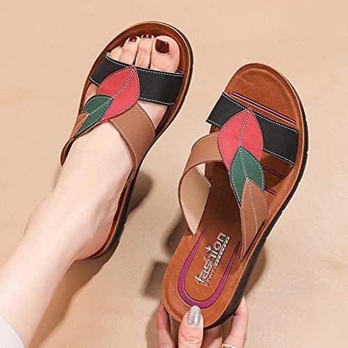 Kirin-1 Zapatillas De Casa para Mujer Verano,Zapatillas De Novia,Mujeres, Vistiendo Moda, Cuero...