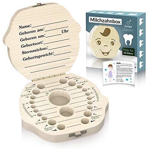 Kiefernholz Zahnbox - Junge