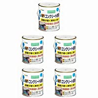 アサヒペン 水性コンクリート床用 1.6L ライトグリーン 5缶セット