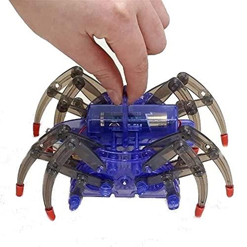 Luces solares a Prueba de Agua Robot Araña Inteligencia de Insectos Kit de Bricolaje Robot Inteligente de Juguete para niños Panel Solar