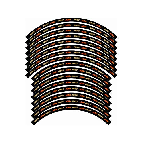 Pegatinas de llanta de rueda de bicicleta 21 '' x 18 '' calcomanías de vinilo autoadhesivo para motocross (Color : StyleA)