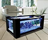 80gl Rectangular Coffee Table Aquarium with Pump, Light, Filter and Completely Fish Ready