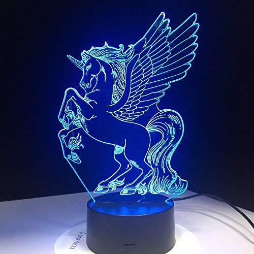Jiushixw nachtlampje acryl 3D met afstandsbediening kleur tafellamp creatieve vleugels elektronische wisseling kindergeschenk tafellamp industrieel